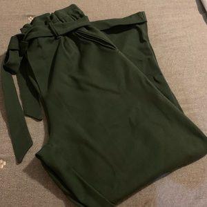 ZARA Trafaluc Collection Dark Green elastic waist